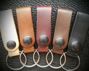 Leather Key Ring or Wallet Chain Belt Loop
