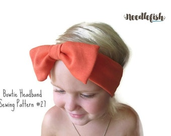 New! BOW HEADBAND Sewing Pattern - bowtie headband sewing pattern - Toddler Knot Headband - Adult Headband - Easy Sewing Pattern