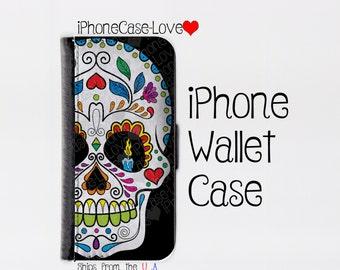 Sugar skull iPhone SE Case - sugar skull iPhone SE Wallet Case - sugar skull iphone SE - sugar skull iPhone se Wallet
