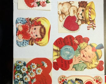 Set of 7 larger valentines day cards