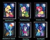 11x14 Mane 6 S5 Gala Dress Shadowboxes