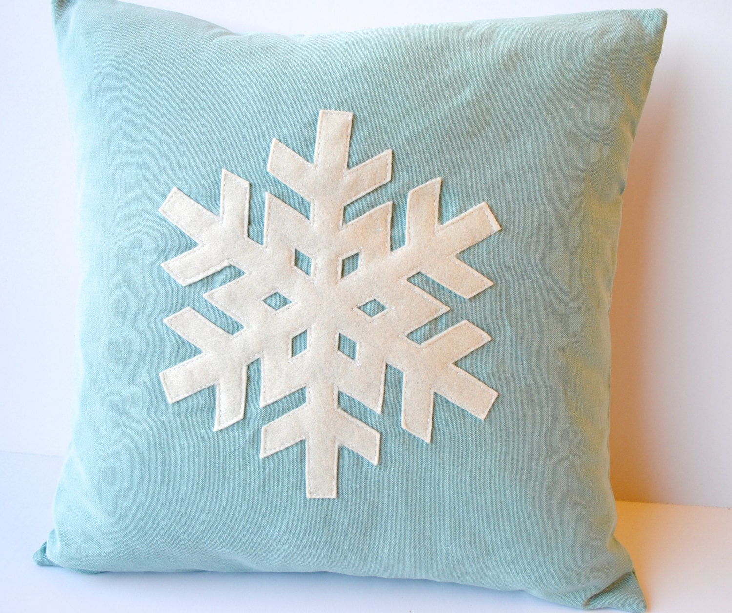 One blue Snowflake Christmas Pillow covers, 20x20, holiday pillow,  decorative pillow, cushion, Christmas decoration