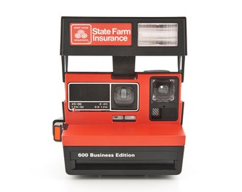 Polaroid 600 Business Edition - State Farm Insurance - film tested and working special limited edition Instant Polaroid Camera