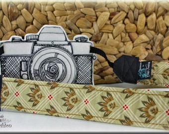DSLR Camera strap, padded, brown, camerastrap