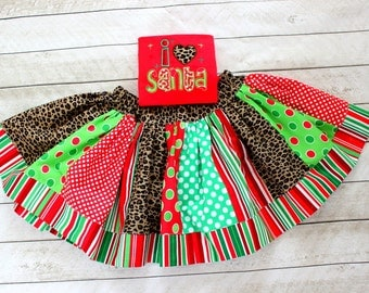 Christmas skirt ONLY girls cheetah red and green chevron polka dot christmas skirt chevron skirt chevron and polkadot skirt green and red