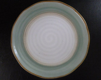"SANGO CHROMATICS Sage and White 8 1/4"" plate"