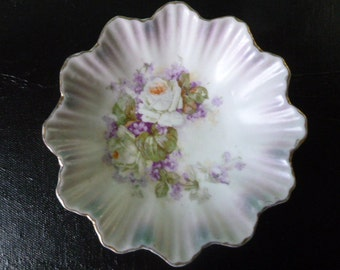 """Lavender 5"""" Floral Bowl Made in Germany"""