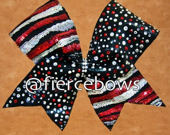 Magic Rhinestone and Sequin Cheer Bow