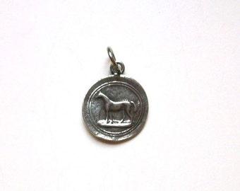 Horse Charm, Wax Seal Horse, Equestrian Jewelry, Equestrian Charm, Horse Pendant, Charm Bracelet