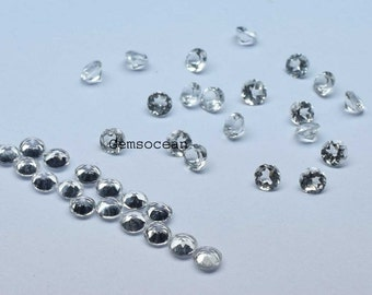 Lot of 25 Pieces AAA Qualily White Topaz Round cut 5x5 MM Loose Gemstone Calibrated