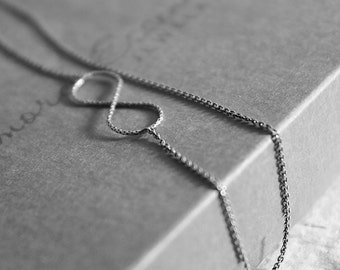 Infinity Necklace, Sterling Silver