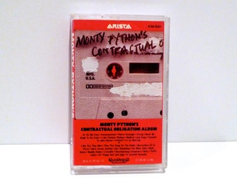 Monty Python Vintage Cassette Tape 1980 Contractual Obligation Album Comedy Funny British Humor Comedian Flying Circus John Cleese Gag Gift