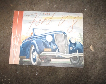 1936 Ford Original colorized Brochures