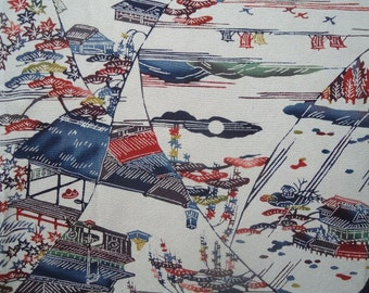 Vintage Japanese silk panel from old kimono