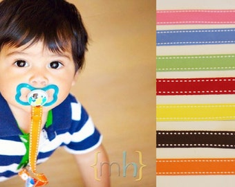 Solid - Paci-Catchers | Pacifier Clip | Pacifier Leash | Baby Shower Gift