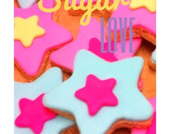 12 Star Sugar Shortbread Cookies