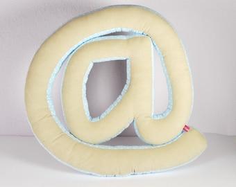 Pillow - letter pillow @.