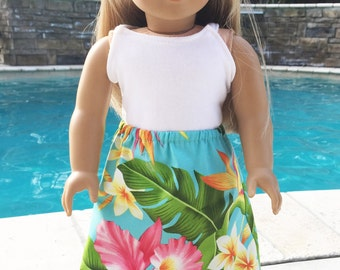 American Girl Doll Skirt and Tank for American Girl Doll or 18 Inch Doll