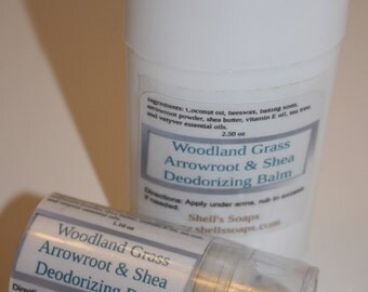 Organic Arrowroot Deodorant - Three Scents - Two Sizes!