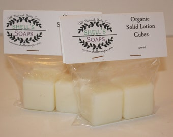 Organic Solid Lotion Cubes