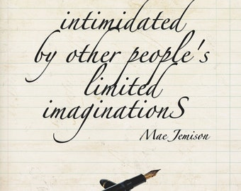 Never be intimidated by other people's limited imaginations