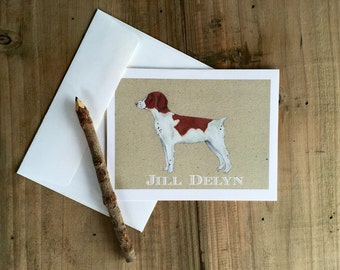 Personalized Brittany Spaniel Cards: Blank Stationery