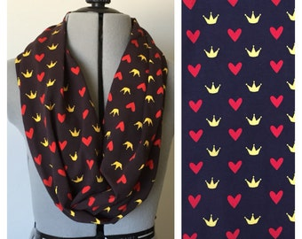 Queen of Hearts inspired Single Loop Scarf