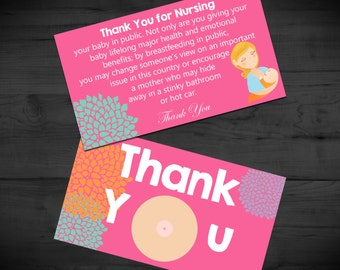 Thank You for Nursing - Breastfeeding Support Cards