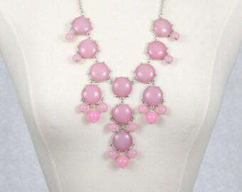 Bubble Necklace Icy Pink Candy Pink Statement Necklace