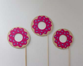 Donut Photo Booth Props