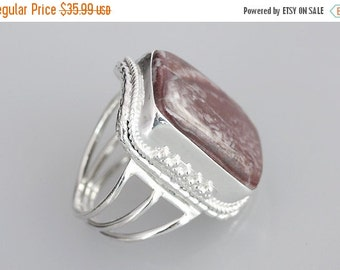 20% OFF SALE Red Jasper Ring, Red Color, 925 Sterling Silver Ring, Red Jasper Jewelry, All Sizes, 16-RI715