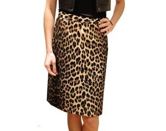 MOSCHINO animal print skirt