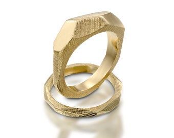 2 18K Yellow Gold Ring wedding band