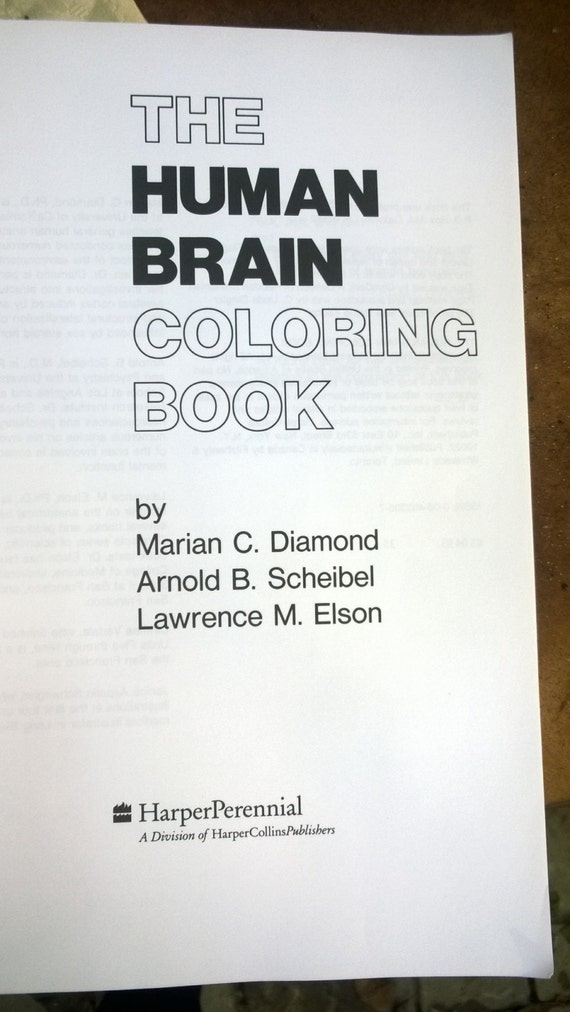 human brain coloring book new unused softcover book 300 pages drawing - Human Brain Coloring Book