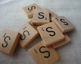 Scrabble Tile Letter S