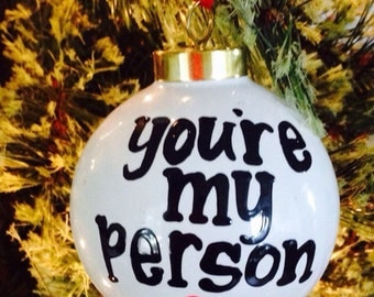 Best Friend- Favorite Person- ceramic handpainted christmas ornament merry christmas Stocking stuffer- cute ornament- christmas gift-