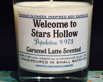 Gilmore Girls Stars Hollow Soy Candle- Caramel and Vanilla Scented Candle -Gilmore Girls Gifts- Welcome to Stars Hollow
