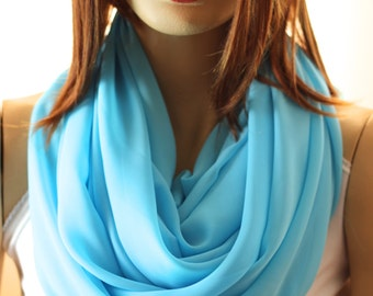 Blue infinity scarves shawl - Blue scarf - spring scarf - spring shawl - Blue wraps - scarves - shawl - Scarves - Scarf - infinity scarves