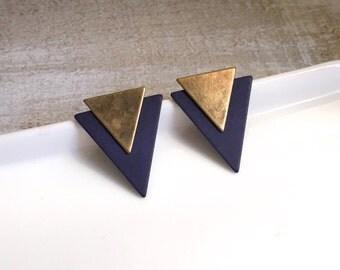 Triangle Earrings, Statement Earrings