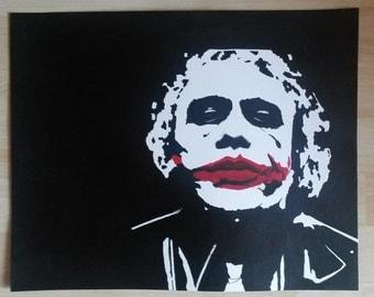The Joker  Heath Ledger 33 x 41 cm acrylverf op canvaspapier