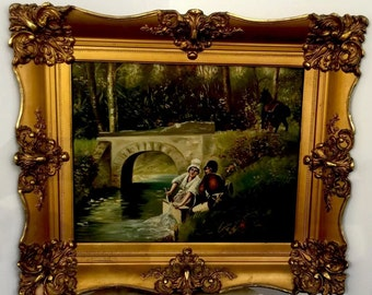Pre 1900 Painting With Vintage Frame