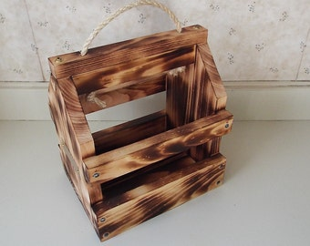 """Uniquely finished 6 pack beverage carrier  """"Free Shipping"""""""