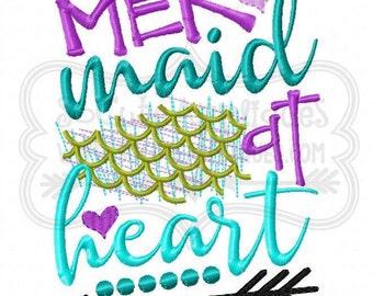 Mermaids at Heart!!! Embroidered Shirt/Bodysuit/Burp Cloth/Hand Towel!