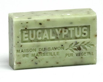 Eucalyptus Olive Oil Exfoliating Soap Triple Milled made in France