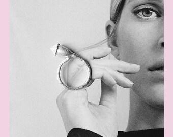 Ring Poppy in Silver
