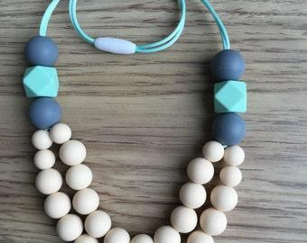 Sofia- handmade silicone teething necklace for stylish moms with nursing babies