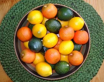 Wreath Faux Fruit / Faux Oranges / Faux Limes / Faux Lemons / Faux Citrus Fruit / Craft Fruit
