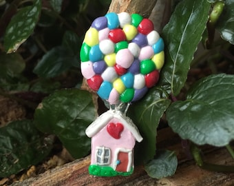 Up, Up & Away!  Polymer Clay Refrigerator Magnet