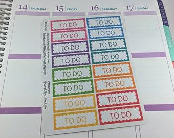 To Do Scallop Planner Stickers, Rainbow Sticker, To Do, List, Erin Condren, Plum Paper, MAMBI, planner accessory
