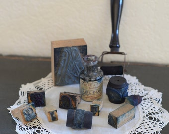 French Antique Embroidery Roller Stamps Festonneur Fabric Stamps & Roller- Pattern Stamp